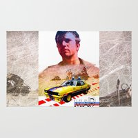 mad max Area & Throw Rugs featuring Mad max poster by danimo