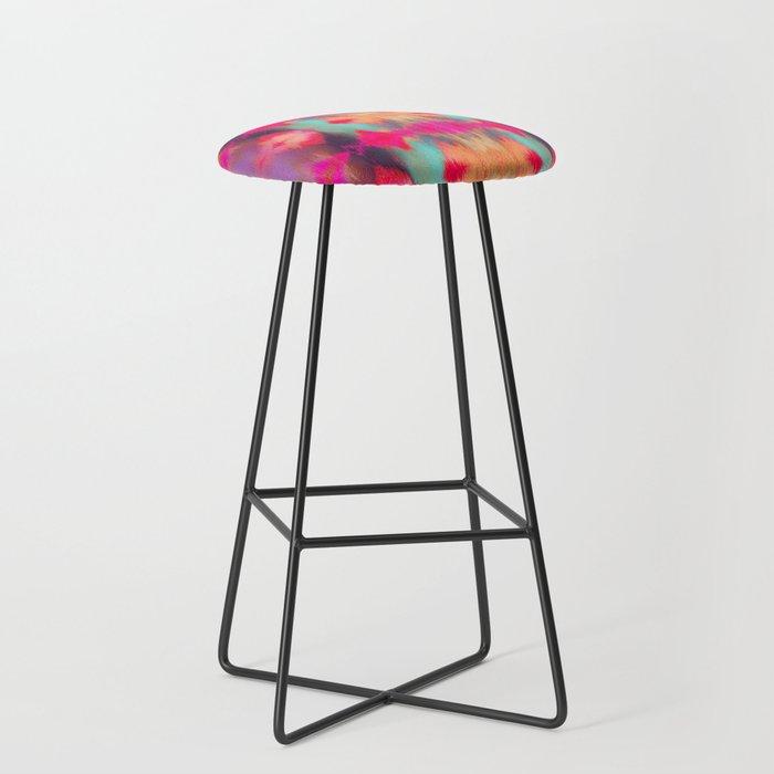 Watercolor Ikat Bar Stool