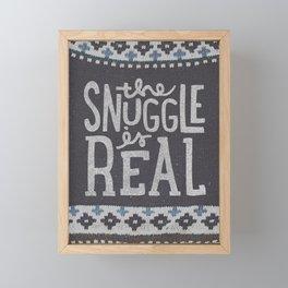 the snuggle is real Framed Mini Art Print