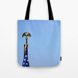 USA Flag Top Tote Bag