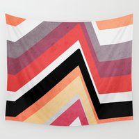 airplanes Wall Tapestries featuring geometric   by mark ashkenazi