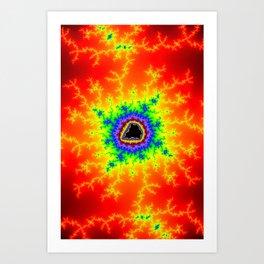 Firey Multicolored Mandelbrot Fractal Art Print Art Print