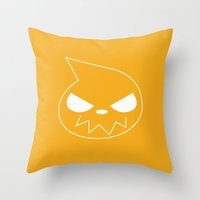 soul eater Throw Pillows featuring Soul Eater by megamewdesign