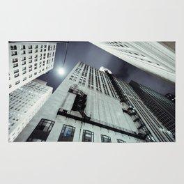 City Metropolis Towering Perspective Fire Escape Vertigo Skyrise Streetlight Rug