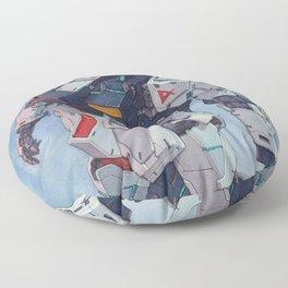 Nu Gundam watercolor Floor Pillow