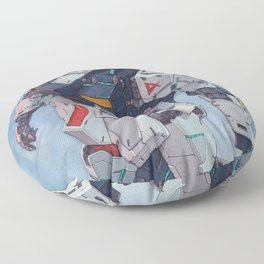 Nu Gundam watercolor Floor Pillow