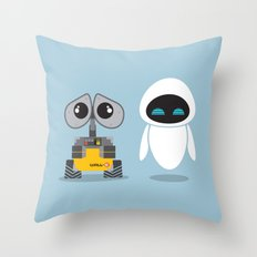 Wall-E and Eve Throw Pillow