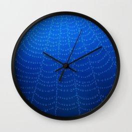 Blue Spider Web Wall Clock