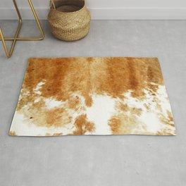 Golden Brown Cow Hide Rug