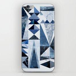 Blue Shapes iPhone Skin