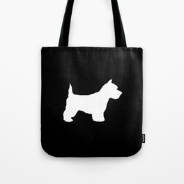 West Highland Terrier dog breed minimal dog lover gifts black and white Tote Bag