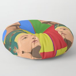 Ancient Relics: Nefertiti Floor Pillow