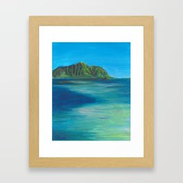 Kaneohe Sandbar Framed Art Print