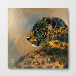 Leopardo Metal Print