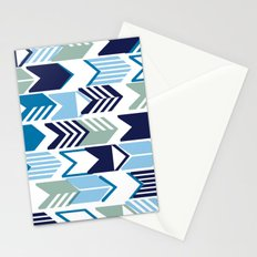 Tribal Arrows (Blues) Stationery Cards
