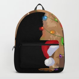 Brussels Griffon Bruss Griff Christmas Lights Backpack