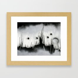 Black and White Splatter Framed Art Print