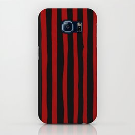 Black and Red Stripes iPhone Case