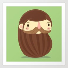 B is for Beard Art Print
