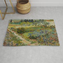 Vincent van Gogh - Garden at Arles (1888) Rug