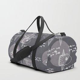 Mola Mola Grey-Ocean sunfish Duffle Bag