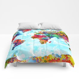 World Map - 2 Comforters