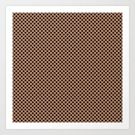 Butterum and Black Polka Dots Art Print