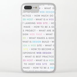 Colored Web Design Keywords Poster Clear iPhone Case