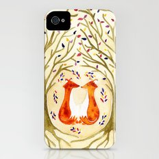 Two Foxes Meet In The Trees Slim Case iPhone (4, 4s)