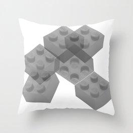 Brixed Mixed Throw Pillow
