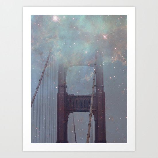 Starry San Francisco Art Print