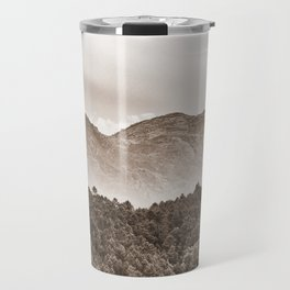 The mountain beyond the forest Travel Mug