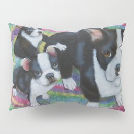Boston Terrier and Puppies Pillow Sham