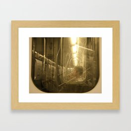 Subway dreams Framed Art Print