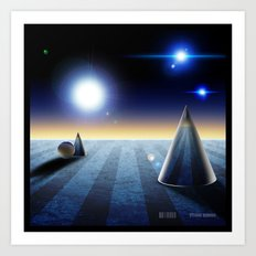 The fourth dimension in the 80's Art Print