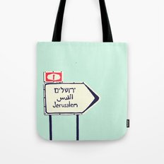 Jerusalem This Way Tote Bag