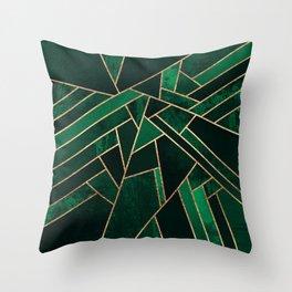 Emerald Night Throw Pillow
