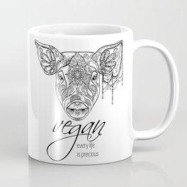 Every life is precious - pig Coffee Mug