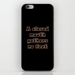 Funny One-Liner Gossip Joke iPhone Skin