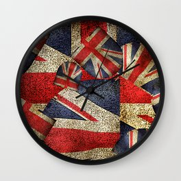Union Jack Pattern Wall Clock