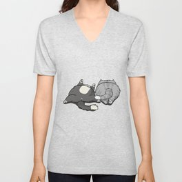 Cat and Furious Unisex V-Neck