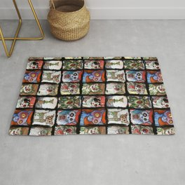 9 zombie cats Rug