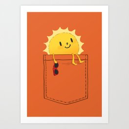 Pocketful of sunshine Art Print