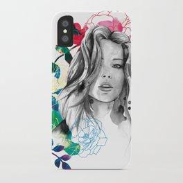 Kristen fashion watercolor portrait iPhone Case