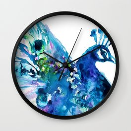 Pretty Peacock Wall Clock