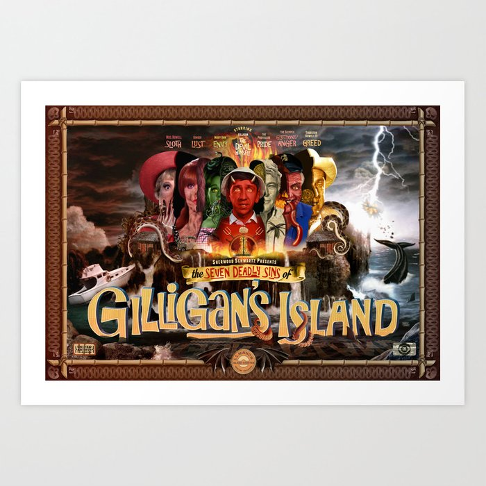 The Seven Deadly Sins of Gilligan's Island Art Print