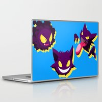 gengar Laptop & iPad Skins featuring PokeGhosts  by Rey~