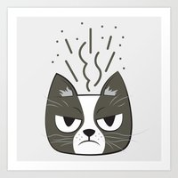 grumpy Art Prints featuring Grumpy by Jaguar Force