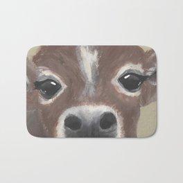 Original Painting - Farmyard Friends - Calf - Cute cow painting Bath Mat