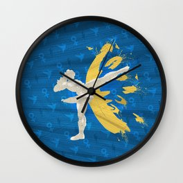Kickin' It (An Homage To Chun-Li) Wall Clock
